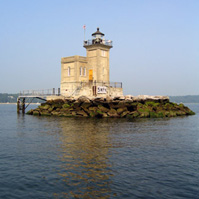 Huntington's Harbor Lighthouse.